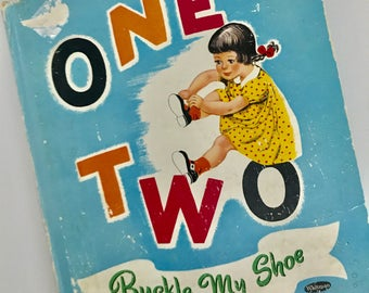 1951 One Two Buckle My Shoe by Edna M. Kaula - Top Top Tales - Whitman