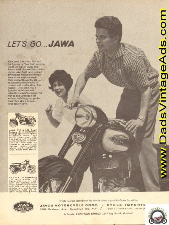 1963 Jawa Road Cruisers & Roadsters Vintage Ad #d63ca15