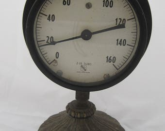 Vintage Gauge On Base