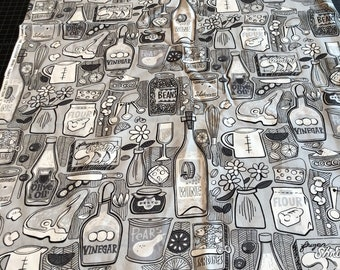 The Pantry - Alexander Henry - Kitchen Fabric - 2003- RARE Out of Print! - Fabric by the yard