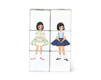 Paper Doll Betsy McCall Wooden Blocks