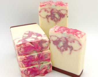 Magnolia Showers soap/artisan soap/handmade soap/Mother's Day soap/spring soap/hand made soap/gift for girl soap/homemade soap/floral soap