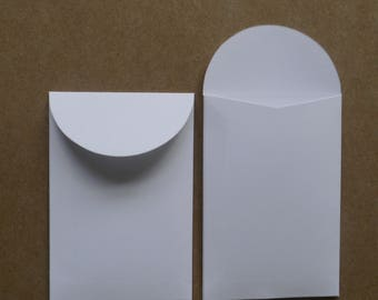 70 x mini plain white paper bags seed packets envelopes,gift favor confetti, party wedding 2.4 x 3.5in mini bags