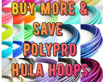 """Polypro Hoop 3/4""""or 5/8"""" Buy More and Save//Polycarb Connection on All Polypro// Collapsible for Travel// Push Pin Connection"""