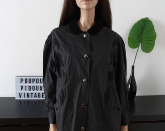 CLAIRE NEUVILLE waterproofed black jacket size L