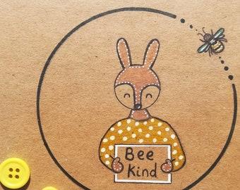 Bee kind card