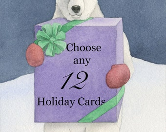Christmas Cards, Your Choice of Any Twelve (12)