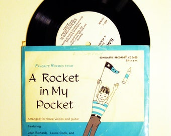 Vintage Scholastic Record -A Rocket In My Pocket/Mother Ghost Nursery Rhymes