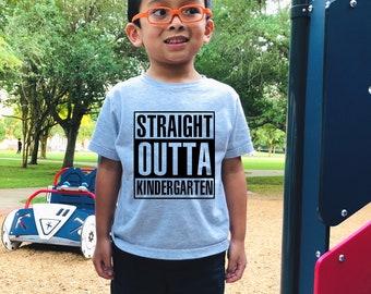 Kindergarten graduation shirt, Straight outta, kinder shirts, kindergarten shirt, kinder graduation shirt, straight outta kindergarten,