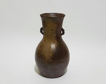 Signed Woodfired Bizen Ceramic Vase