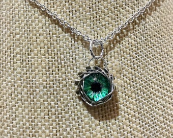 Hand Painted Shining Eye necklace