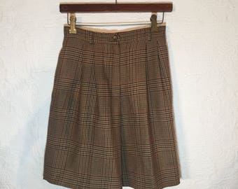 sz4P | 90's JH Collectibles wool plaid high waisted lined equestrian shorts Zipper fly Side pockets Made in USA