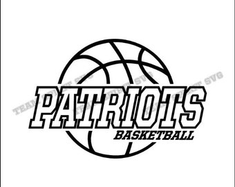 Patriots Basketball Center Download Files - SVG, DXF, EPS, Silhouette Studio, Vinyl / Digital Cut Files -Use with Cricut and Silhouette