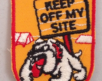 Keep Off  My Site Vintage Camping Travel Patch from Voyager