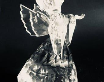 "Vintage Angel Swarovski Crystal NIB  "" Cheerful Times"""