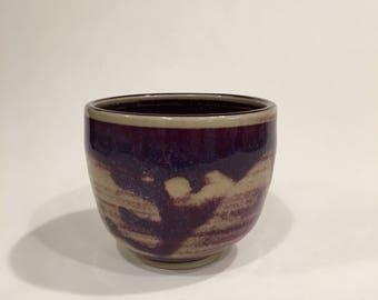 Purple & White Cup, Handmade Ceramic Tea Cup, Yunomi TCJAN18PW1