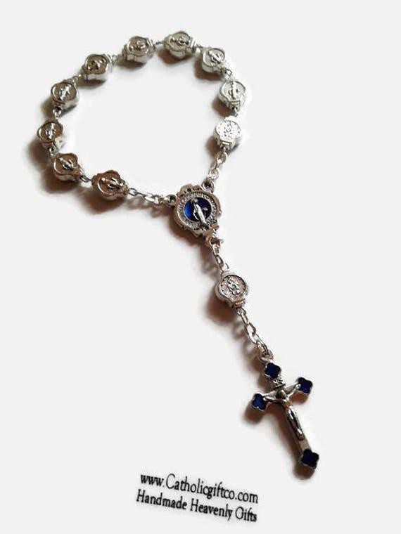 Miraculous Medal Rosary Decade - Auto Rosary Decade, Pocket Rosary, Traveling Rosary, One decade