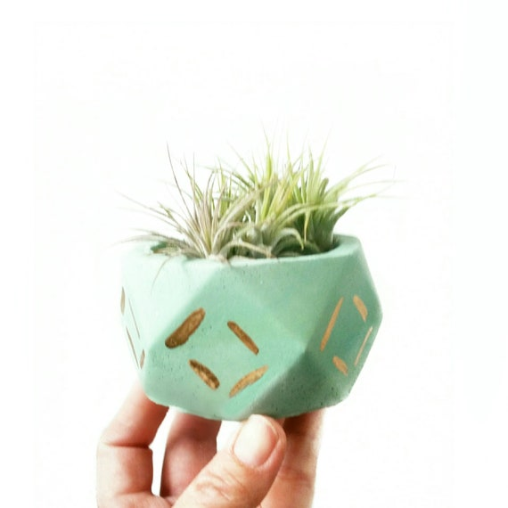 Geometric Planter/Air Planter/Desk Planter/Geometric decor/New Home Gift/Housewarming Gift/Succulent Planter/Modern Planter/Mint decor