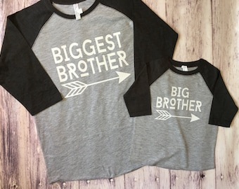 Big Brother & Biggest Brother shirts, pregnancy announcement shirt, soon to be big brother shirt, big brother shirt, biggest brother shirt