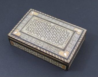 Mosaic Storage Box, Wooden Storage Box, Inlaid Wooden Box, Jewellery Box, Keepsake Box, Trinket Box, Small Wooden Box, Jewellry Box #134
