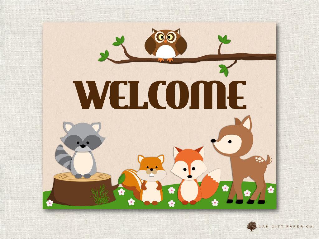 Woodland Animal Baby Shower Decorations Woodland Animal Baby
