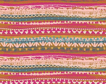 Trinket Blush - Indie Folk - HALF YARD - Art Gallery Fabric - Cotton Fabric - Quilting Fabric