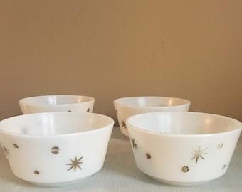 Four Mid Century Modern Bowls
