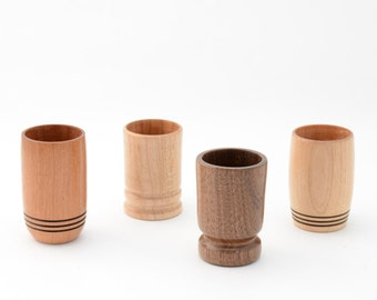 Hand-turned Wooden Toothpick Holder