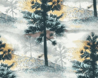 """Native Pine Trees """"Scenic""""-Quilting Treasures-BTY"""