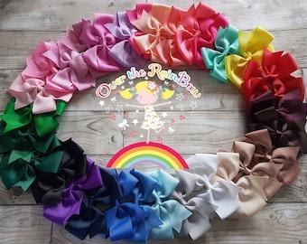5 Inch Pinwheel hair bow, hair clip, hair bobble, multiple colour choice
