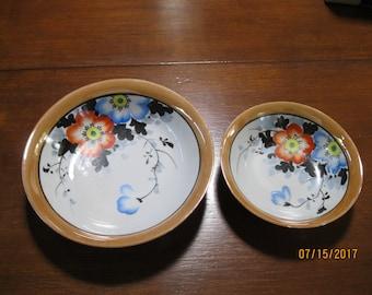 Beautiful Vintage Japanese Lusterware Bowls