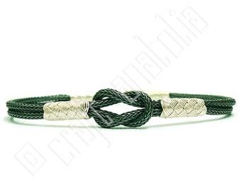 Handmade Pure Silver Oxidized Two Strand Bracelet with Hand-in-Hand Motif Kazaz Art  (Kazaziye)