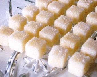 Honey Sugar Cubes (120+Bagged) Tea, Beverage Sweetener, Tea Favor Gift - Real Honey