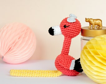 Pink flamingo stuffed animal, Plush flamingo, Crochet flamingo amigurumi, Flamingo figurine, Flamingo gift, Plush bird, Crochet bird
