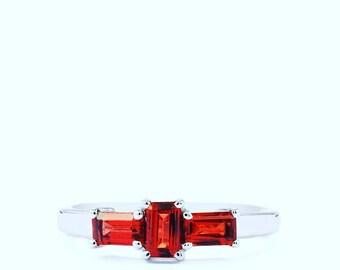 Mozambique Garnet Silver Ring