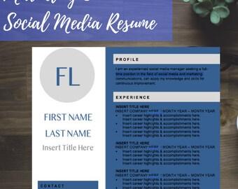 Marketing & Social Media Resume