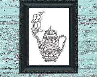 Colouring Teapot Doodle