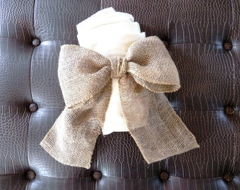 Burlap Bow Curtain Tie Back Wedding Decoration Wreath Decoration