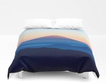 Mountain Duvet Cover, Mountain Bedding, Nature Bedding, Mountain Bedroom, Dorm Room Decor, Nature Duvet Cover