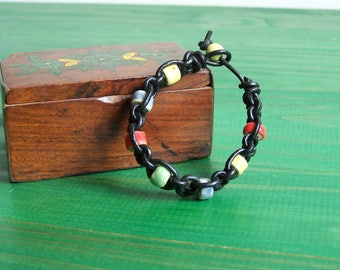 "Ceramic bracelet ""shamballa"" kids Earth and jewelry"