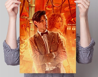 Doctor Who - The Eleventh Doctor and River in the TARDIS