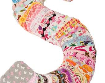 Sweet Bobbins Cloth Wipes - Girls Mixed Print Mini-Starter Set - 6wipes - flannel and OBV - SOFT - 6x8 size