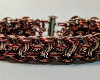 Kinged Vipera Berus Aluminum Chainmaille Bracelet
