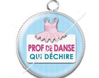Pendant cabochon resin for a dance teacher 7