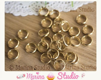 10 9mm brass rings large hole N77837 6.8 mm