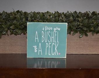 I Love You Mini Wood Sign