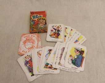 Vintage Old Maid Card game, Tower Press No. 5368