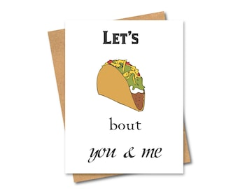 Funny Salt-N-Pepa Card - Taco - Pun