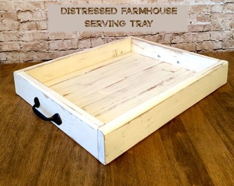 Distressed Farmhouse Style Serving Tray