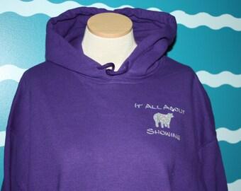 Show cattle hooded sweatshirt - Livestock show girl hoodie sweatshirt - show heifer sweatshirt - Livestock show sweatshirt